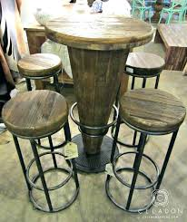 round wood pub table round high top table and chairs wood pub table i high top