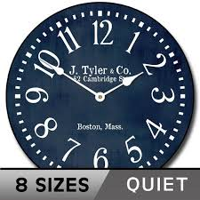 navy blue wall clock large wall clock