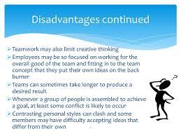 Disadvantages Of Teamwork Exploring Work Teams Professional Year Program Ppt Download
