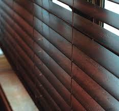 wood venetian blind darkwood