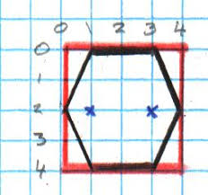 Graph Paper Draw Drawing Hexagons