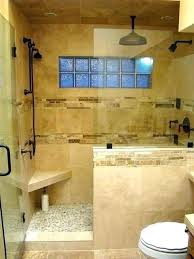 half glass shower wall with bathrooms walls partition block sh custom and doors cost forest photo