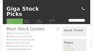 Access Gigastockpicks Com Giga Stock Picks The Financial