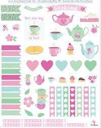 Tea Party Free Printables Free Mothers Day Printable Tea Party Themed Planner