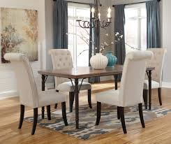 ashley kitchen table and chairs throughout 5 piece rectangular dining room set w wood top metal legs designs 16