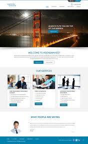 Financial Institutions Website Design Modern Serious Financial Service Web Design For Agenda