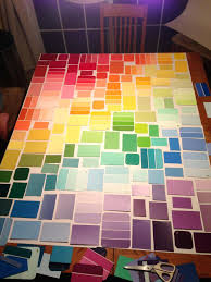 awesome paint swatch wall ideas sample art geometric patterns