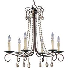 maxim lighting adriana 6 light urban rustic chandelier