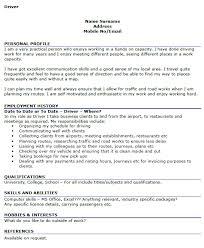 Driver CV Examples