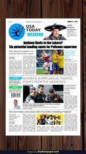 Free Indesign Newspaper Template The Usa Today Newspaper Template Google Docs