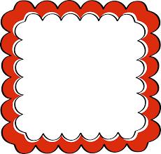 Red Photo Frames Red Scalloped Frame Free Clip Art Frames