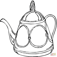 Small Picture Teapot Coloring Page Free Printable Coloring Pages Coloring Home
