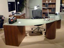 modern office desk 66 inch ellax with glass top