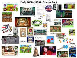 Discover amazing bbc tv, radio and kids shows and programmes available on bbc iplayer. Early 2000s Uk Kid Starter Pack Starterpacks