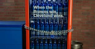 Bud Light Vending Machine Adorable The Cleveland Browns Finally Won And Bud Light 'Victory Fridges