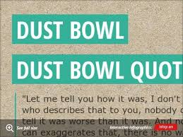 Infographic Dust Bowl Dust Bowl Quote Dust Bowl Word Map