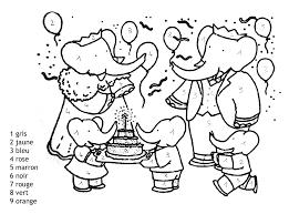 Magique Babar Facile Coloriage Magique Coloriages Pour Enfants