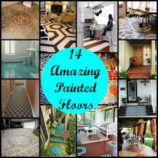 14 amazing painted floors