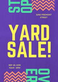Purple Modern Bold Yard Sale Flyer Templates By Canva