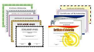 Scholarship Certificate Template For Word Free Award Templates Microsoft Word Jasonwang Co