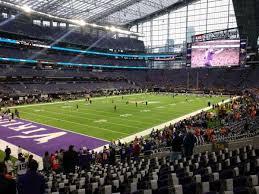 U S Bank Stadium Section 114 Home Of Minnesota Vikings