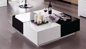 modern black and white furniture. Storage White Lacquer Coffee Table Modern Black And Furniture H
