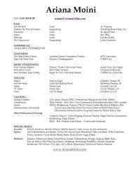 How To Make A Theatre Resume Impressive Musical Theatre Resume Template Musical Theatre Resume Template