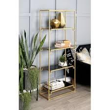 Image Modern Metal Etagere Bookcase Wayfair Glass Etagere Youll Love Wayfair