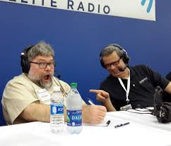 land line now host mark reddig and road dog trucking news host mark willis getting ready for the road dog round table 2 at the mid america trucking show
