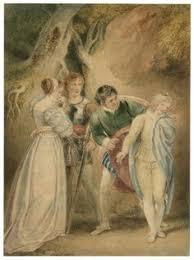 alexandre bida two gentlemen of verona act v scene eglamour the revelation of sebastian as julia two gentlemen of verona act