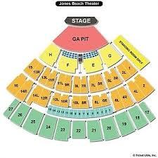 Jones Beach Seating Chart Ga Pit 2 Rammstein Pit Seats 800 00 Picclick