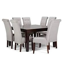 image unavailable image not available for color simpli home axcds9 cos clg cosmopolitan 9 piece dining set with solid hardwood table