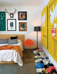 Cool Eclectic Bedroom. Image Source: Miss-Design