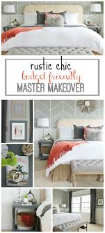 Master Bedroom On A Budget Rustic Chic Budget Friendly Master Makeover City Farmhouse