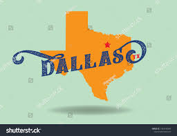 Dallas Logo Design Dallas Texas Map Logo Design Concept Stock Vector Royalty