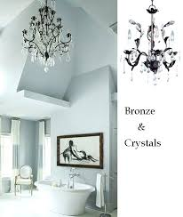 bronze bathroom chandelier amazing of bathroom chandelier lighting bathroom lighting ideas with crystal chandeliers home home