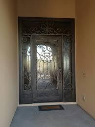 Iron Entry Doors With Transoms Scottsdale, AZ