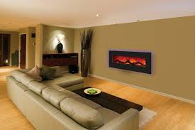 cool sears electric fireplace decor with grey sofa and wooden floor for family room