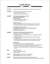 Unique Sample Resume For Recent College Graduate With No Brilliant
