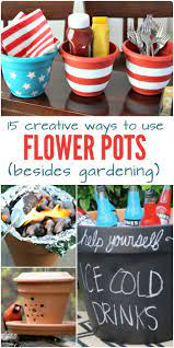 15 creative ways to use flower pots