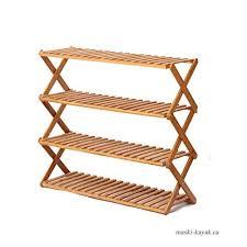 bamboo adjule foldable shoe organiser shelf shoe rack cabinet storage flower stand living room office kitchen outdoor wood