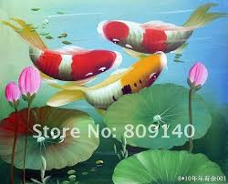feng shui art for office. Fish Oil Painting Feng Shui Koi Canvas Japanese Asian Art Hand Paint Home Office Hotel For .
