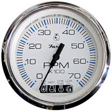 Faria Chesapeake White Ss 4 Products Gauges Gauges Size