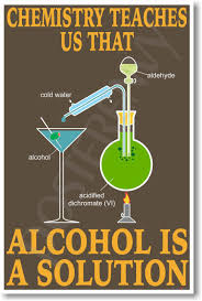 Alcohol Is A Solution New Science Chemistry Classroom Poster