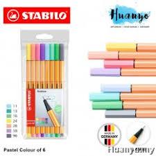 Stabilo Point 88 Fineliner Pen 0 4 Mm 8 Pastel Wallet Set