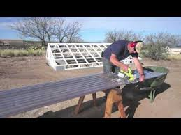 installing tuftex polycarb clear panels on greenhouse