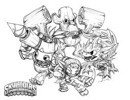 Skylanders Coloring Pages Life Element Right
