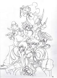 Small Picture Kingdom Hearts Coloring Pages Sora