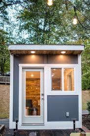 Image Diy Exterior Of The Tiny Office On Wheels In Sleek Modern Design Small Biz Survival Like Home Office But With Wheels