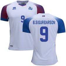 White Shirt Jersey World Men's Cup Short 2018 Bergmann Iceland Bjorn Sigurdarson 9